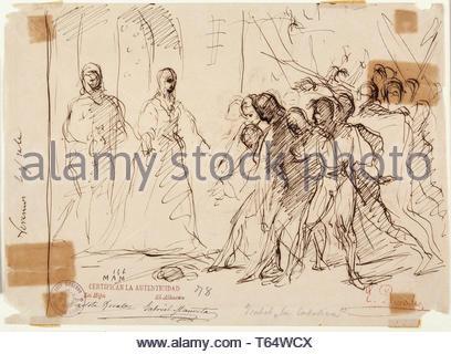 Rosales Gallinas, Eduardo-Los Reyes Catolicos recibiendo a los cautivos tras la toma de Ronda - Stock Photo