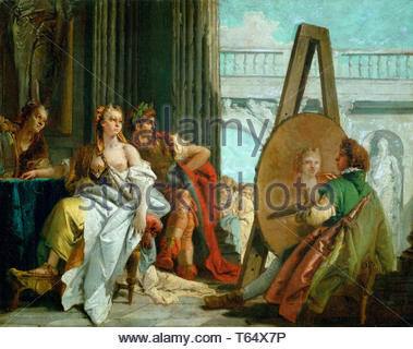 Tiepolo, Giovanni Battista-The painter Apelles, Alexander the Great and Campaspe - Stock Photo