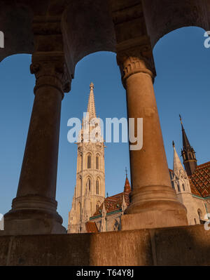 Matthias Church is a Roman Catholic church located in Budapest, Hungary, Europe - Stock Photo