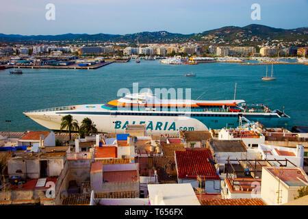 Dalt Vila. Eivissa. Ibiza city. Ibiza. Balearic Islands. Spain. - Stock Photo