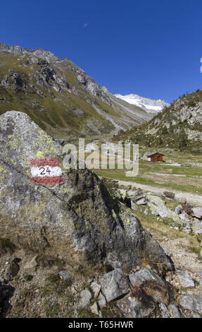 Shieling in South Tyrol, Austria, Europe - Stock Photo