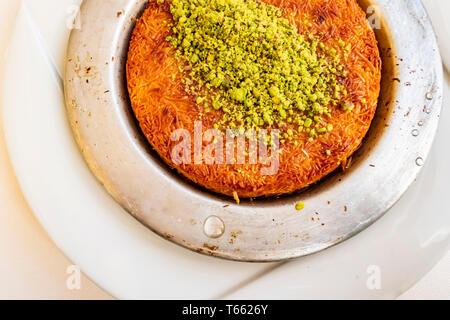 Turkish Künefe, Hot and Cheesy Southeastern Dessert - Stock Photo