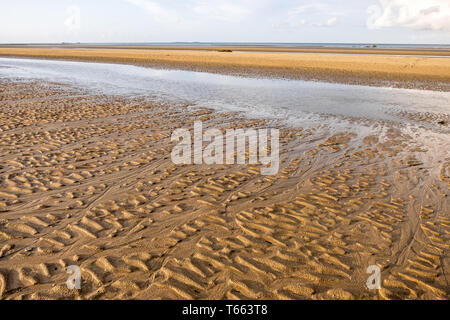 Peaceful landscape on the famous Utah Beach in Normandy, France - Stock Photo