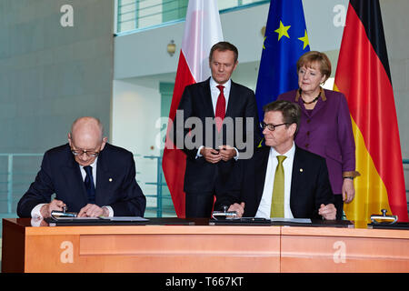 Signing of agreement between Germany and Poland