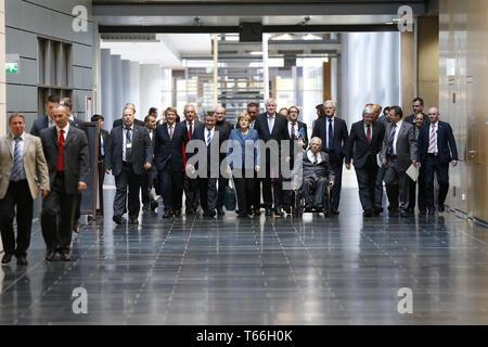 CSU / CDU and SPD - Secound Roundof Interior, Transport Minister Peter Ramsauer, - Stock Photo