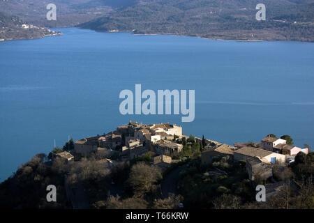 Sainte Croix du Verdon, Haute Provence, France - Stock Photo