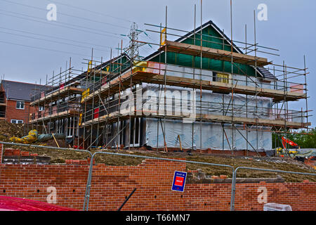 New building site on the outskirts of Bridgend.Known as Glen Gardens this is a development by Charles Church. - Stock Photo