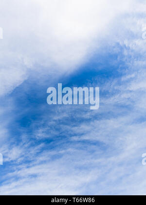 blue sky texture background with light clouds for compositions - Stock Photo