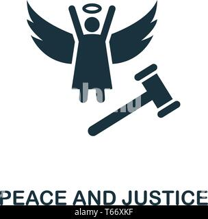 Peace And Justice icon. Creative element design from community icons collection. Pixel perfect Peace And Justice icon for web design, apps, software - Stock Photo