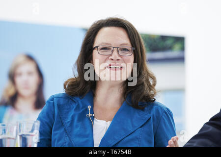 Presentation of SPD election campaign in Berlin - Stock Photo