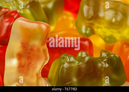 Gummy bears, Colorful jelly bear candies set