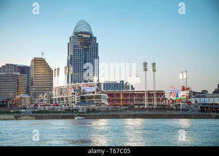 Great American Ball Park stadium in Cincinnati - Stock Photo