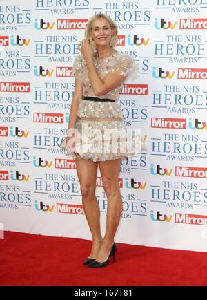 London, UK. Jenni Falconer at NHS Heroes Awards at the London Hilton Park Lane, London on Monday 14 May 2018. Ref: LMK73-J2025-150518 Keith Mayhew/Landmark Media WWW.LMKMEDIA.COM - Stock Photo