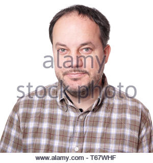 man in checked shirt - Stock Photo