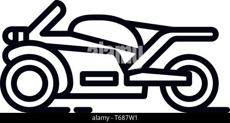 This vector image shows a motorcycle icon in glyph style. It is isolated on a white background. - Stock Photo