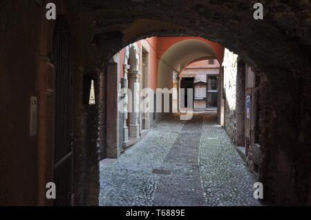 Village of Malcesine at Lake Garda,Verona Province,Italy - Stock Photo
