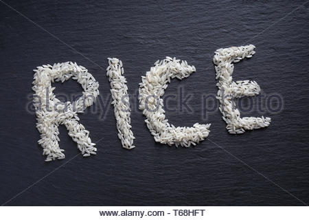 rice spelled out - Stock Photo