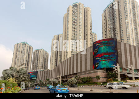 Building on main street in Jakarta - Stock Photo