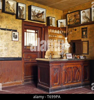 historic restaurant at open-air museum, Lindlar, Bergisches Land, North Rhine-Westphalia, Germany - Stock Photo