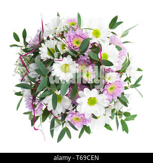 Bouquet from Gerbera Flowers Isolated on White Background. - Stock Photo