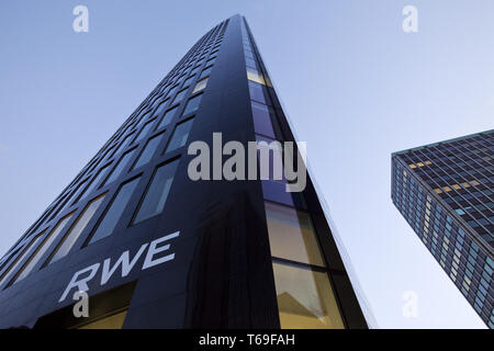 RWE Tower, Dortmund, Ruhr area, North Rhine-Westphalia, Germany, Europe - Stock Photo