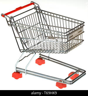 Shopping Trolley Cutout - Stock Photo