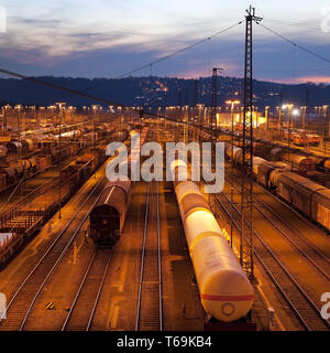 switch yard Hagen-Vorhalle, Hagen, Ruhr Area, North Rhine-Westphalia, Germany, Europe - Stock Photo