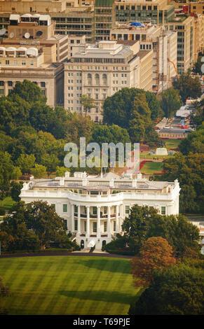 The White House aerial view in Washington, DC - Stock Photo