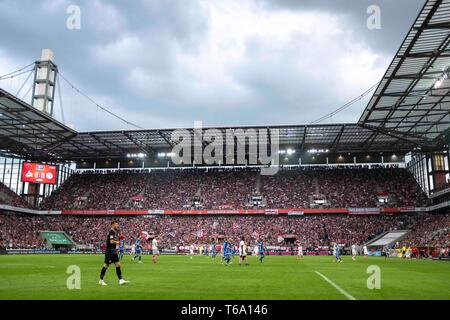 Overview Rhein-Energie-Stadion, Soccer 2. Bundesliga, 31. matchday, FC Cologne (K) - Darmstadt 98 (DA) 1: 2, on 26/04/2019 in Koeln/Germany. ## DFL regulations prohibit any use of photographs as image sequences and/or quasi-video ## ¬ | usage worldwide - Stock Photo
