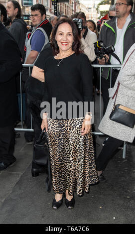 London, UK. 30th Apr, 2019. Arlene Phillips attends the 'Man of La Mancha' opening night at the London Coliseum on April 30, 2019 in London, United Kingdom. Credit: Gary Mitchell, GMP Media/Alamy Live News - Stock Photo