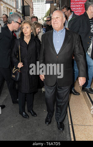 London, UK. 30th Apr, 2019. Harvey Goldsmith attends the 'Man of La Mancha' opening night at the London Coliseum on April 30, 2019 in London, United Kingdom. Credit: Gary Mitchell, GMP Media/Alamy Live News - Stock Photo