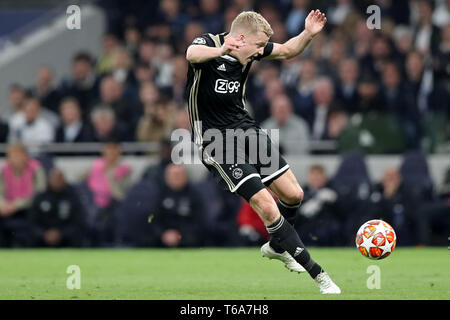 London, UK. 30th Apr 2019.  during the UEFA Champions League match between Tottenham Hotspur and Ajax Amsterdam at White Hart Lane, London on Tuesday 30th April 2019. (Credit: Jon Bromley | MI News) Credit: MI News & Sport /Alamy Live News - Stock Photo