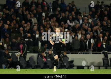 Tottenham Hotspur Stadium, London, UK. 30th Apr, 2019. UEFA Champions League football, semi final 1st leg, Tottenham Hotspur versus Ajax; Matthijs de Ligt of Ajax Credit: Action Plus Sports/Alamy Live News - Stock Photo
