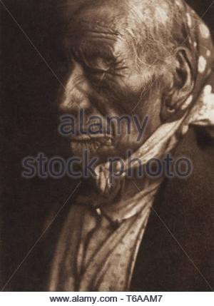 Edward Sheriff Curtis-Blue Horse - Ogalala [portrait of Chief] (T - Stock Photo