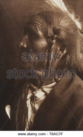 Edward Sheriff Curtis-No Flesh - Ogalala [portrait of a Chief] (T - Stock Photo