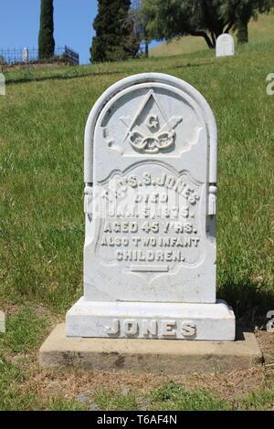 Rose Hill Cemetery, Black Diamond Mines Regional Preserve, Antioch, California - Stock Photo