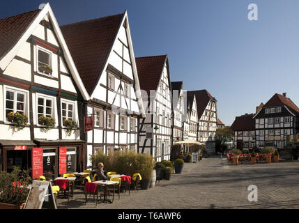 half-timbered house in the old city, Soest, Suedwestfalen, North Rhine-Westphalia, Germany - Stock Photo