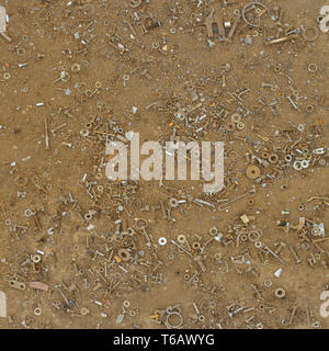 Old Grungy Rusty Nuts - Stock Photo