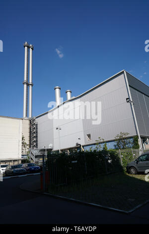 Buildings of the former cogeneration plant Berlin-Mitte - Stock Photo