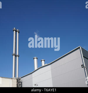 Buildings of the former cogeneration plant Berlin-Mitte. - Stock Photo