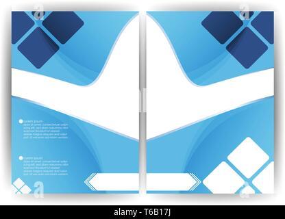 Vector background design a flyer brochure vertical - Stock Photo