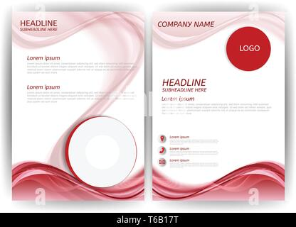Modern business flyer template with abstract vector background - Stock Photo