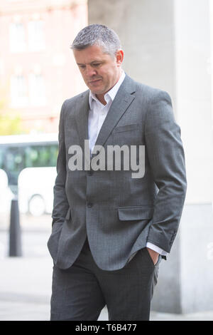 Paul Bussetti arriving at Westminster Magistrates Court, London, where he is charged with two counts of sending or causing to be sent grossly offensive material via a public communications network, after a video showing an effigy of the Grenfell Tower being burned was posted online. - Stock Photo