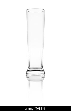 Isolated beer glass on a white background - Stock Photo