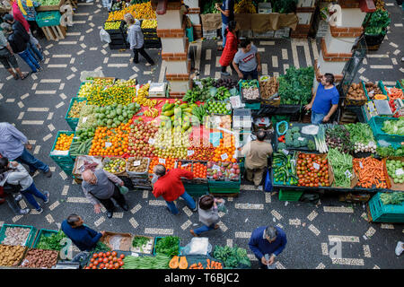 The Mercado dos Lavradores (farmers market), Funchal, Madeira - Stock Photo
