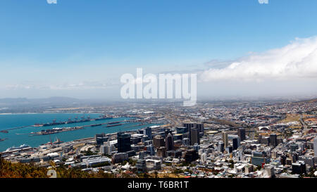 The view from signal hill Cape Town - Stock Photo