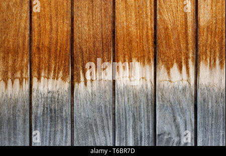 Backgrounds and textures: multicolor weathered wooden planks, exterior wall of rustic building - Stock Photo