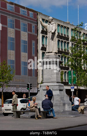 Statue of Father Mathew in Dublin, Ireland - Stock Photo