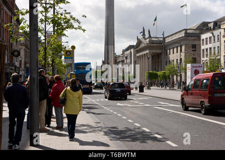 Base of the Spire, Dublin, Ireland - Stock Photo