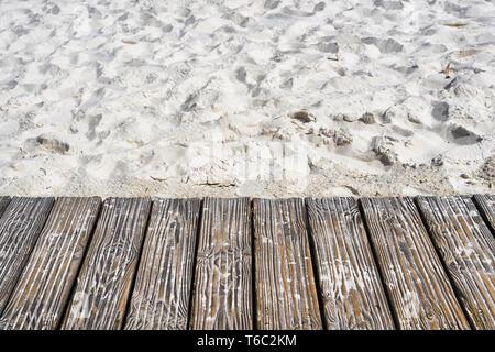 Boardwalk on the beach of the Baltic Sea - Stock Photo
